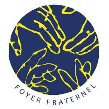 Logo du Foyer Fraternel avec le texte en rond en-dessous du logo