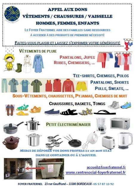 Vignette de l'affiche d'appel aux dons de vêtements