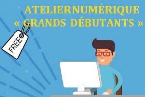 Détail du flyer annonçant l'atelier numérique Grand Débutants