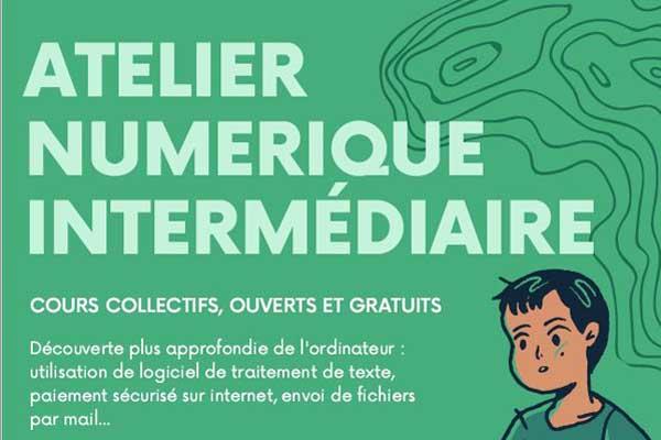 Détail du flyer annoncant l'atelier numérique intermédiaire