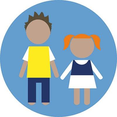 Illustration montrant deux enfants