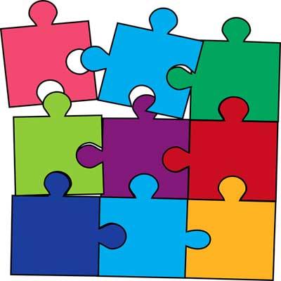 Illustration d'un puzzle de nombreuses couleurs pour représenter les salariés d'une structure